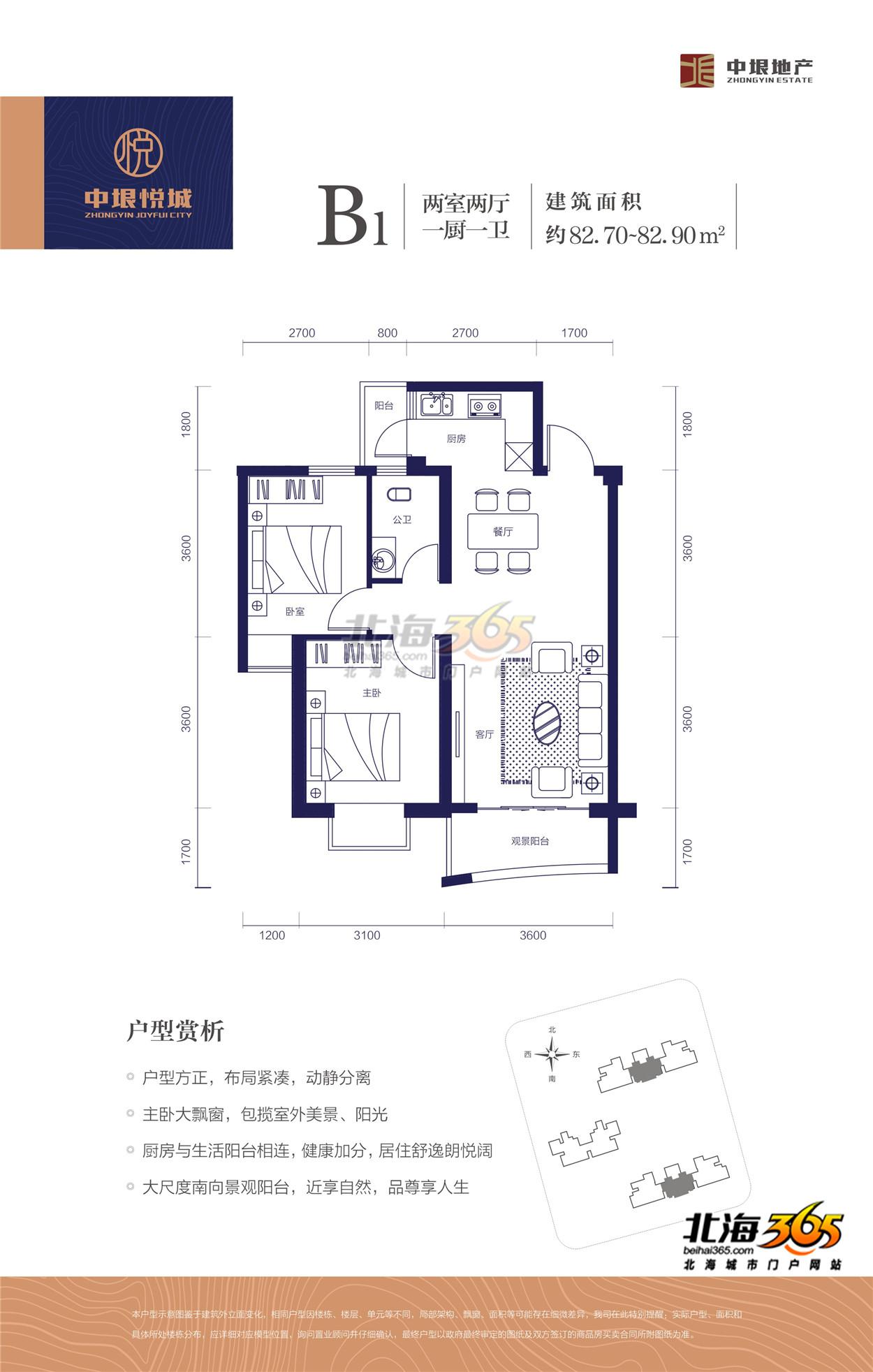 B1两室两厅一厨一卫