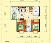 A8户型/2栋1单元/两房两厅一厨一卫
