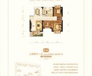 39#E4户型三房两厅一卫