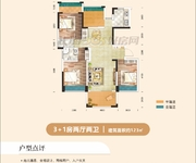 A户型3+1房两厅两卫